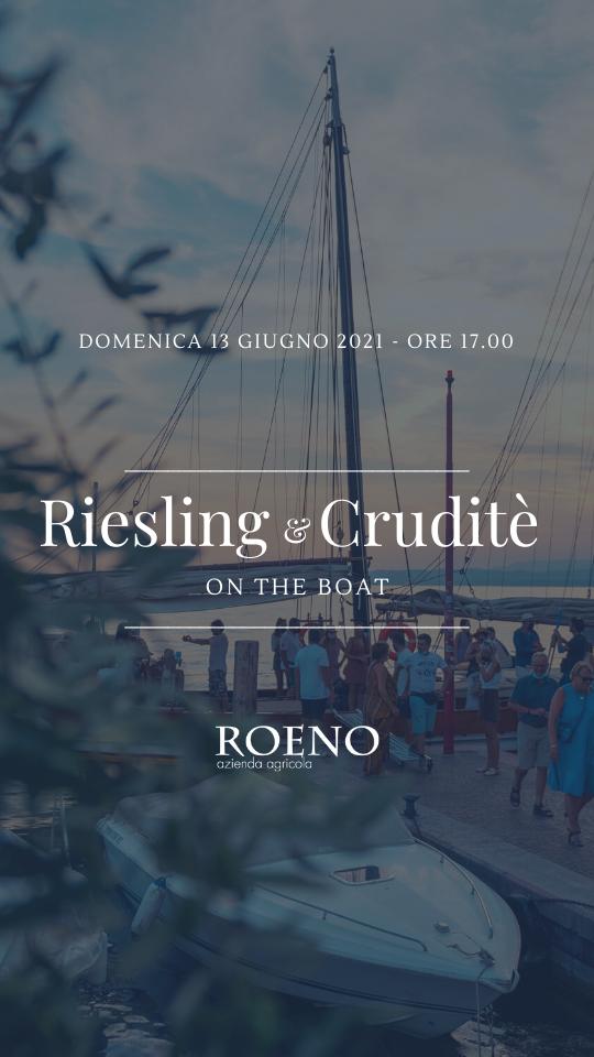 ✨ Riesling & Cruditè on the boat ✨